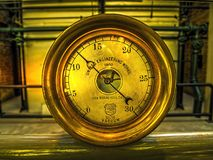 Antieke Messings Vacuümmaat Stock Afbeelding