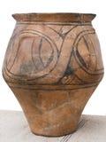 Antieke met de hand gemaakte ceramische kruik Royalty-vrije Stock Afbeelding