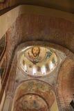 Antieke muur-schildert kerk - Stock Afbeeldingen