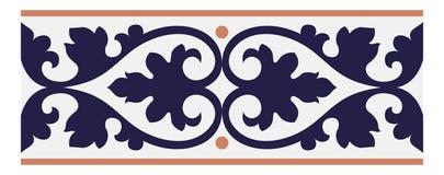 Antieke naadloze ontwerp van tegels het Portugese patronen in Vectorillustratie stock illustratie