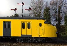 Antieke Nederlandse trein royalty-vrije stock foto