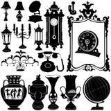 Antieke objecten vector Royalty-vrije Stock Foto