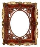 Antieke omlijsting met de hand gemaakte keramiek die op whitebackground wordt geïsoleerd Royalty-vrije Stock Afbeeldingen