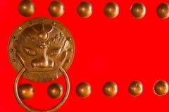 Antieke oosterse deurkloppers Royalty-vrije Stock Foto's