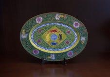 Antieke oosterse plaat, Tint, Vietnam royalty-vrije stock afbeeldingen