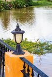 Antieke Openluchtverlichtingslamp Stock Foto's