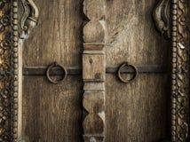 Antieke oude deur Stock Afbeelding