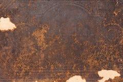 Antieke Oude van het Leer Textuur Als achtergrond dekking aan flarden van een oud boek stock foto