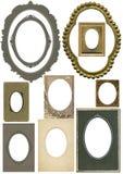 Antieke ovale frames Stock Foto