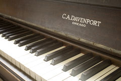 Antieke Piano Royalty-vrije Stock Foto's
