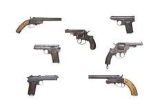 Antieke Pistoleninzameling Stock Afbeelding