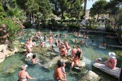 Antieke Pool in de Oude Stad van Hierapolis, Turkije Royalty-vrije Stock Afbeelding