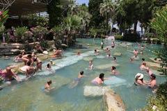 Antieke Pool in de Oude Stad van Hierapolis, Turkije Stock Foto