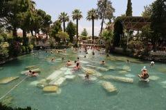 Antieke Pool in de Oude Stad van Hierapolis, Turkije Royalty-vrije Stock Foto