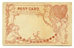 Antieke Prentbriefkaar royalty-vrije stock afbeelding