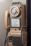 Antieke publieke telefooncel Royalty-vrije Stock Foto