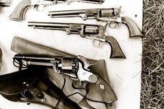 Antieke Revolvers Stock Foto's