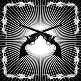 Antieke revolvers Stock Afbeelding