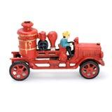 Antieke rode eindeauto Stock Afbeelding