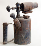 Antieke roestige olielamp Stock Foto