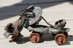 Antieke rolschaatsen Royalty-vrije Stock Foto