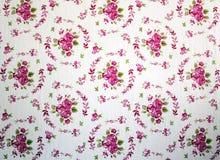 Antieke roze en rode sjofele elegant nam het behang van het herhalingspatroon toe Royalty-vrije Stock Foto's