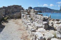 Antieke ruïnes, Griekenland Stock Foto's