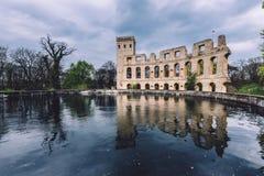 Antieke Ruïnes op Ruinenberg-Heuvel in Potsdam Royalty-vrije Stock Foto's