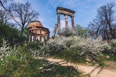 Antieke Ruïnes op Ruinenberg-Heuvel in Potsdam Royalty-vrije Stock Foto