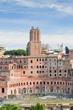 Antieke ruïnes van roman forum in Rome Royalty-vrije Stock Foto's