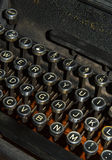 Antieke schrijfmachine dichte omhooggaand Stock Afbeelding
