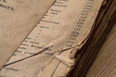 Antieke scripture royalty-vrije stock foto's