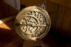Antieke sextant stock afbeelding