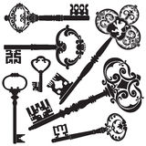 Antieke Sleutels Stock Afbeelding
