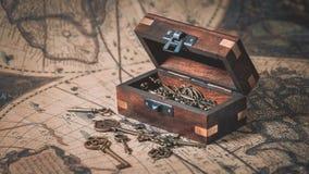 Antieke Sleutels in Schatborst royalty-vrije stock foto
