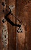 Antieke slot en deurkruk. Royalty-vrije Stock Foto's