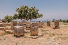 Antieke steen in de Tempel van Cyprus Stock Afbeelding