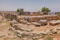Antieke steen in de Tempel van Cyprus Stock Foto's