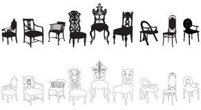 Antieke stoelen Royalty-vrije Stock Afbeelding