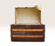 Antieke stoombootboomstam met strohoed Stock Fotografie