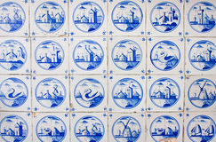 Antieke tegels royalty-vrije illustratie