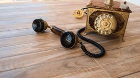 Antieke telefoon, Huistelefoon, Uitstekende telefoon, abstract o Stock Fotografie