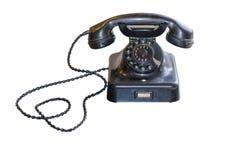 Antieke Telefoon met wijzerplaat op witte achtergrond Royalty-vrije Stock Afbeelding