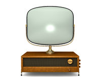 Antieke Televisie 2 Royalty-vrije Stock Afbeelding