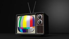 Antieke Televisie met kleurenbars royalty-vrije illustratie