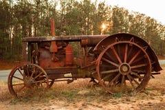 Antieke Tractor Stock Afbeelding