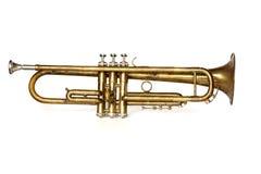 Antieke trompet op wit Royalty-vrije Stock Fotografie