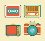 Antieke TV stock illustratie