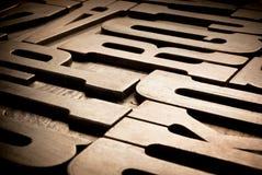 Antieke typografische blokken Stock Fotografie