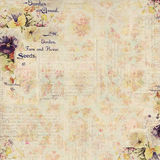 Antieke Uitstekende stijl botanische bloemen ontworpen achtergrond Stock Foto's